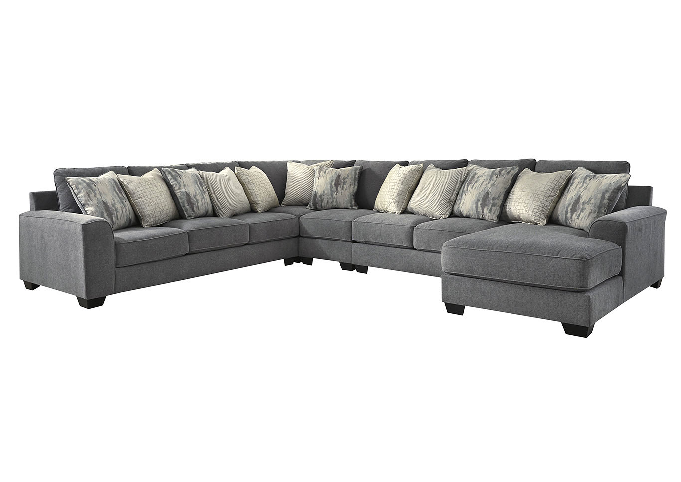 Castano Jewel 5 Piece Chaise Sectional