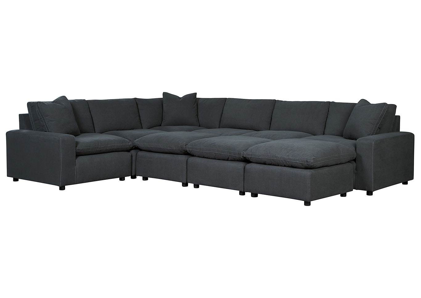 Savesto 6 Piece Sectional w/3 Ottomans