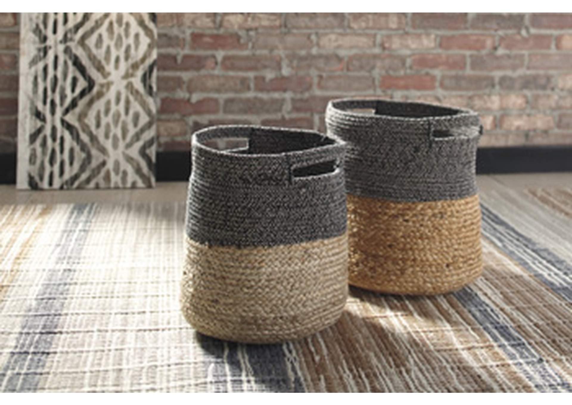 Parrish Natural/Black Basket (Set of 2)