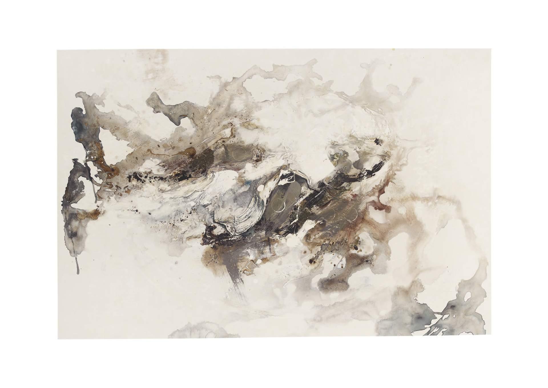 Arte mural Annora en color gris/marrón/blanco azul/negro   PEDIDO ESPECIAL