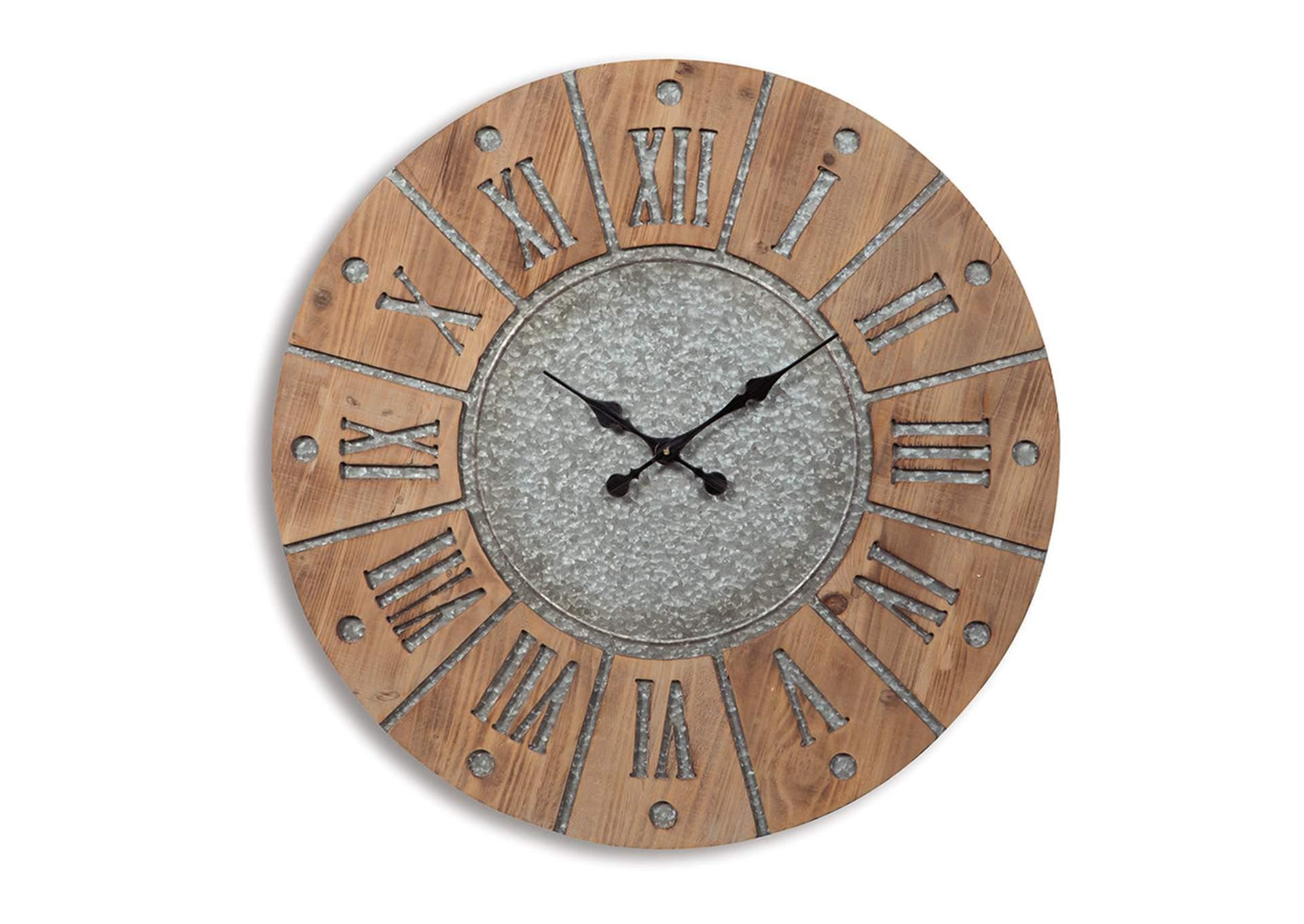 Reloj de pared Payson en gris/natural antiguo   PEDIDO ESPECIAL
