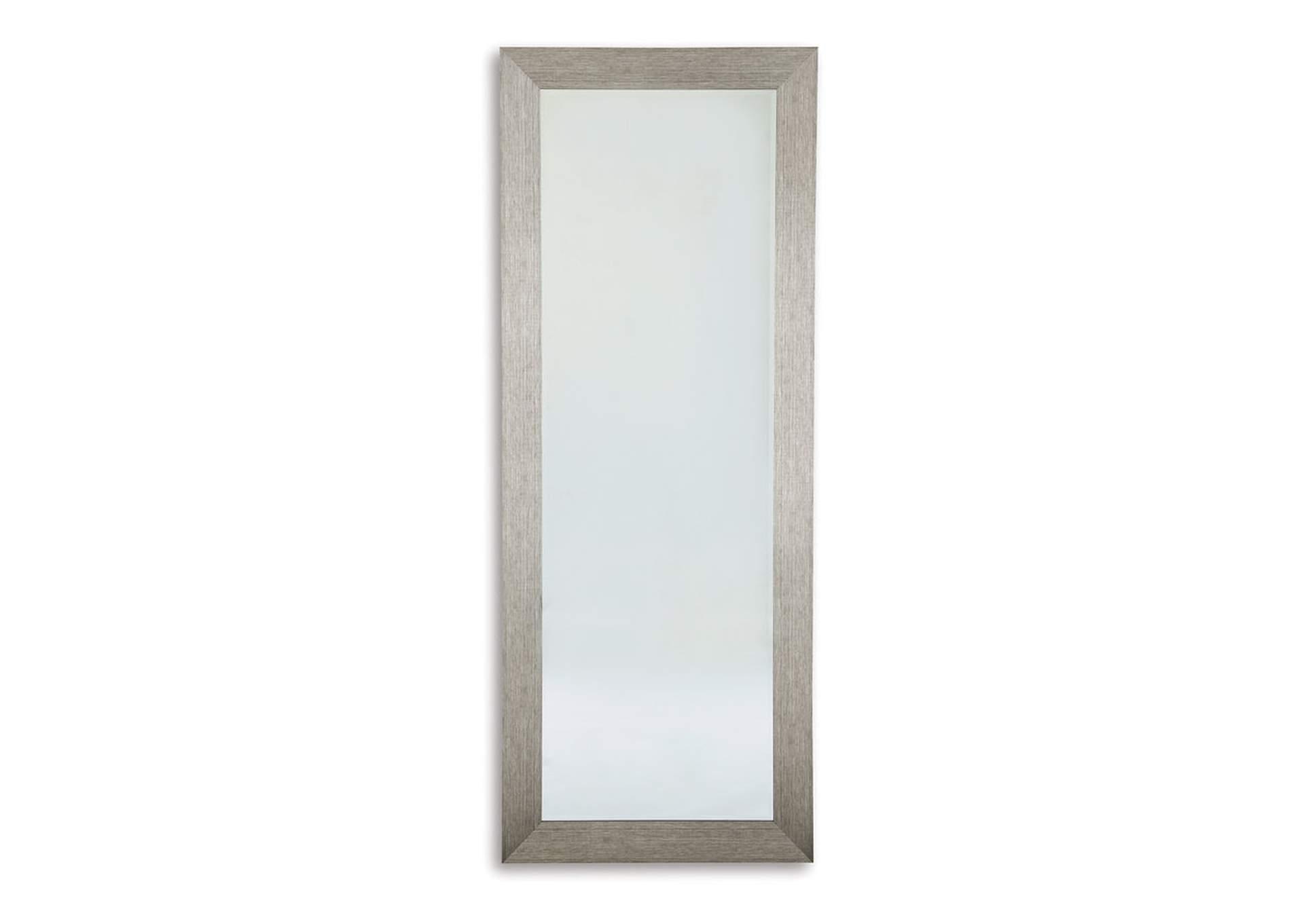 Espejo decorativo Duka con acabado color plateado