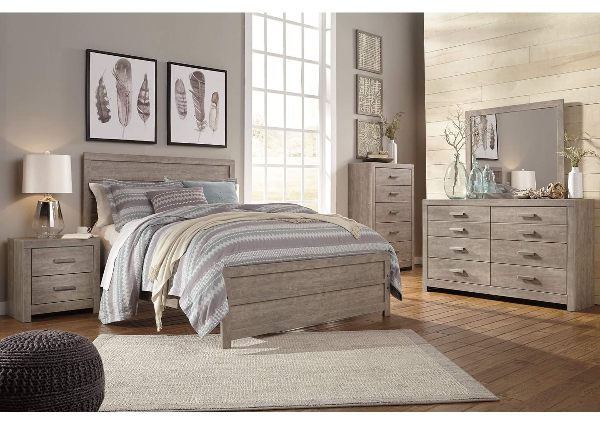 Culverbach Queen Panel Bed w/Dresser and Mirror