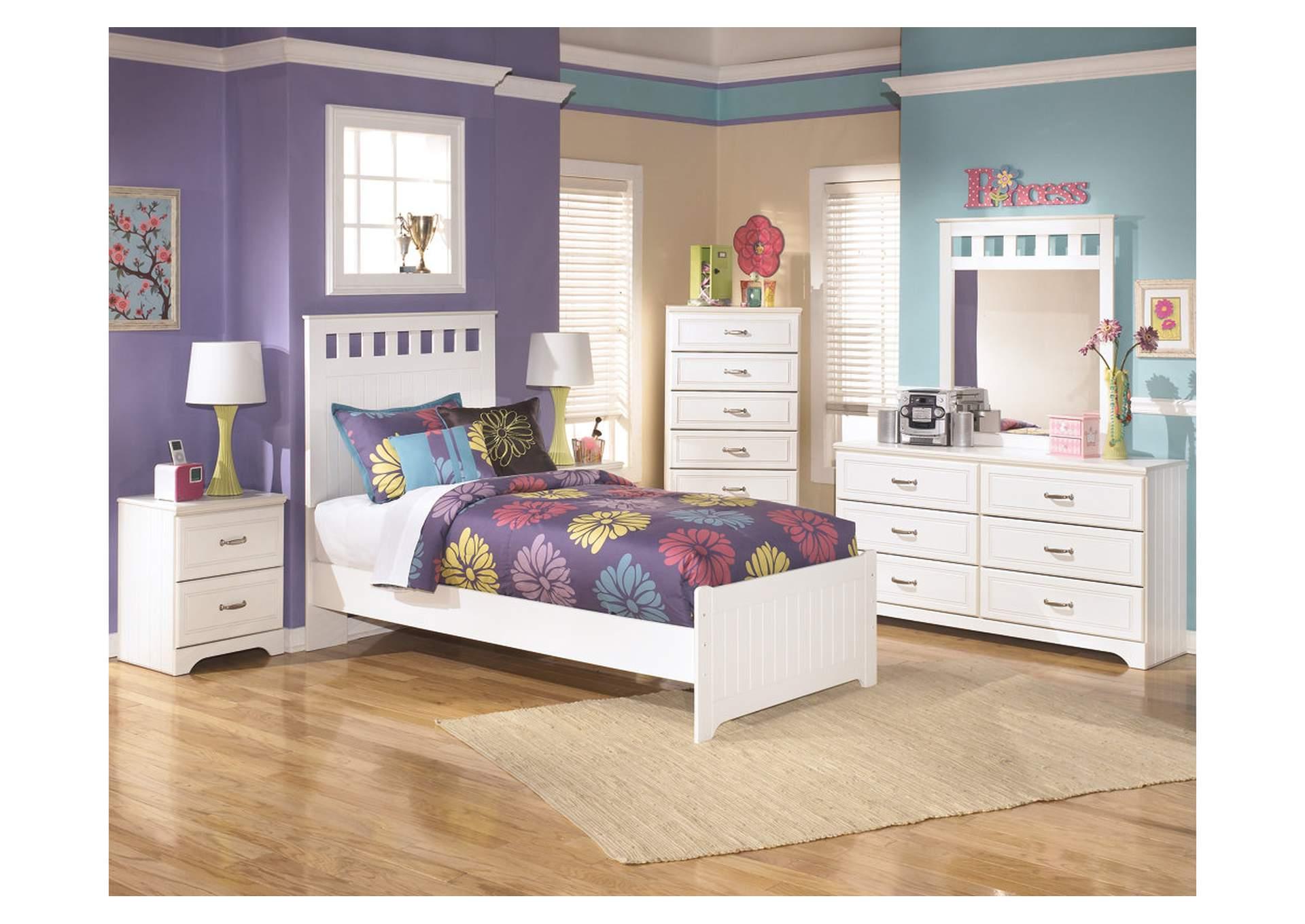 Panel Doble Lulu Bed w/Dresser & Mirror