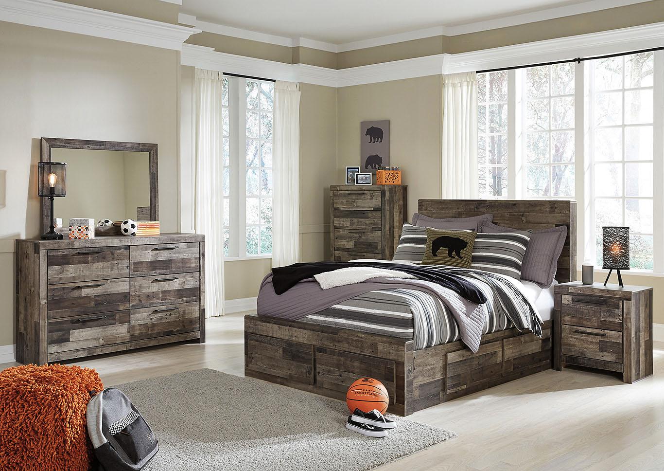 Derekson Full Storage Bed w/Dresser and Mirror