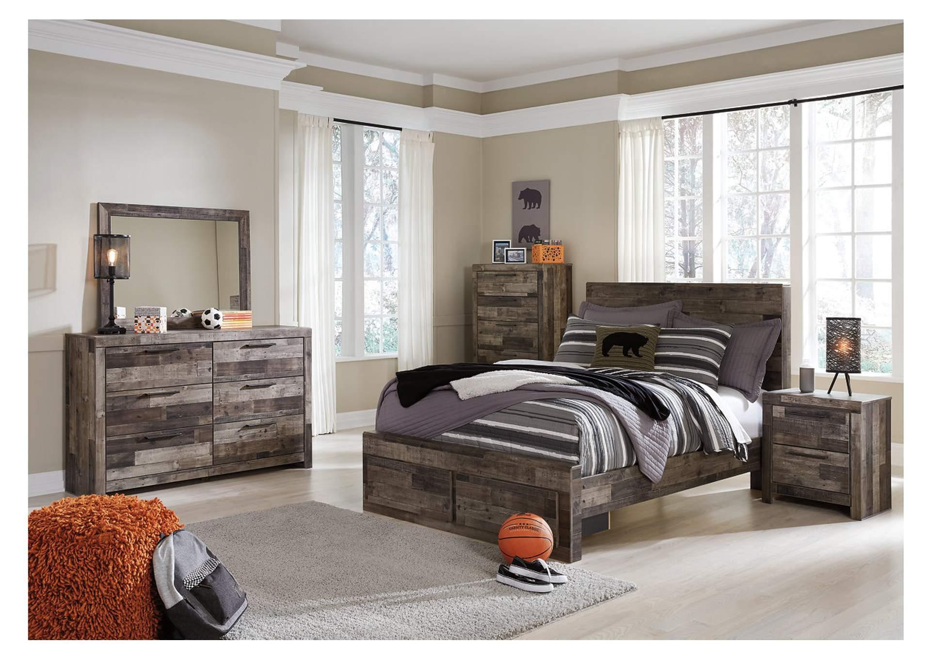 Derekson Full Platform Bed w/Dresser and Mirror