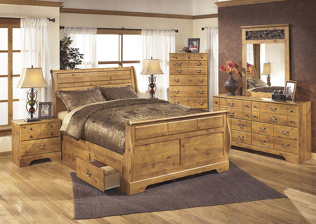 Bittersweet Queen Sleigh Storage Bed