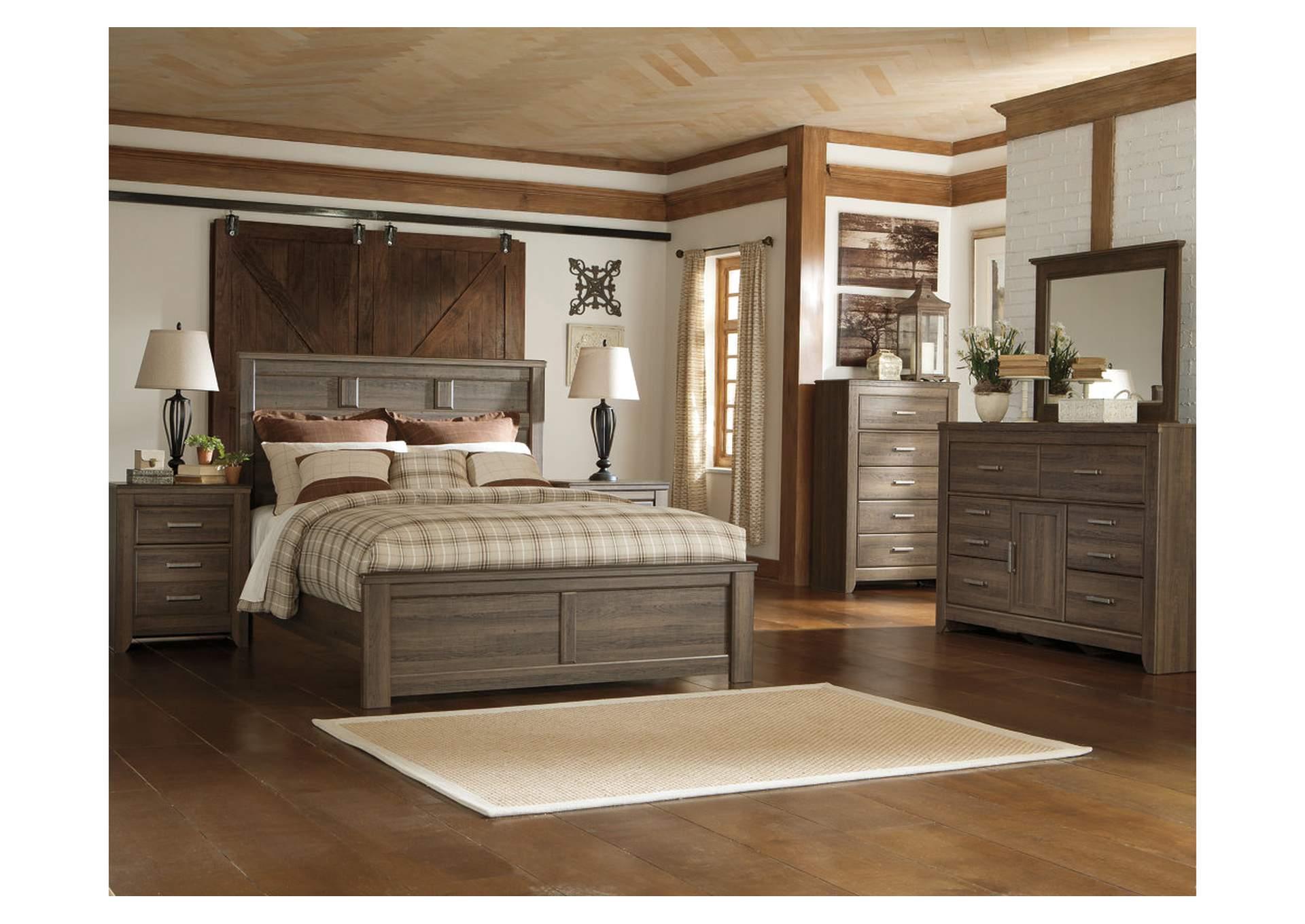 Juararo Queen Panel Bed w/Dresser and Mirror