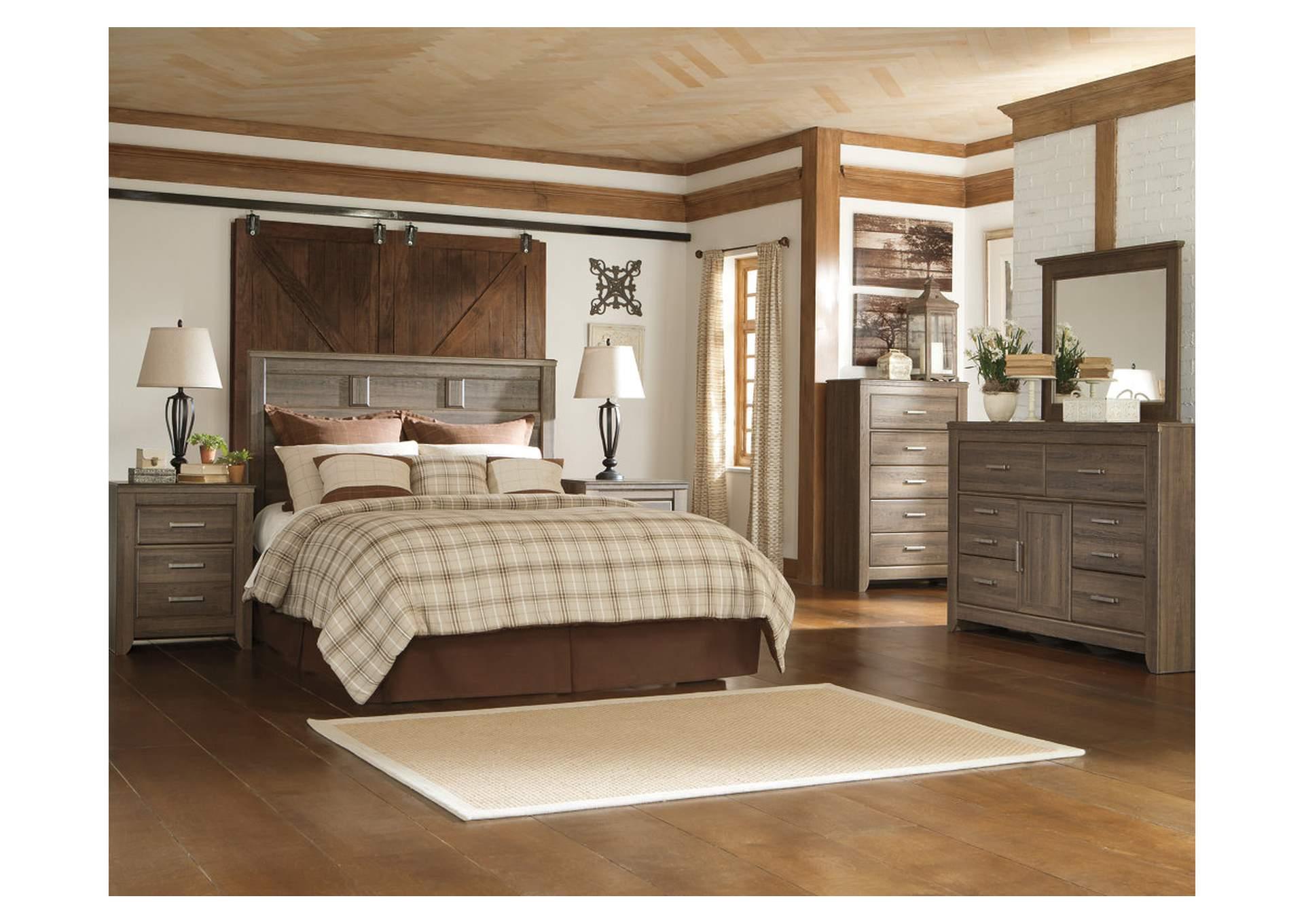 Juararo King/California King Panel Headboard w/Dresser and Mirror