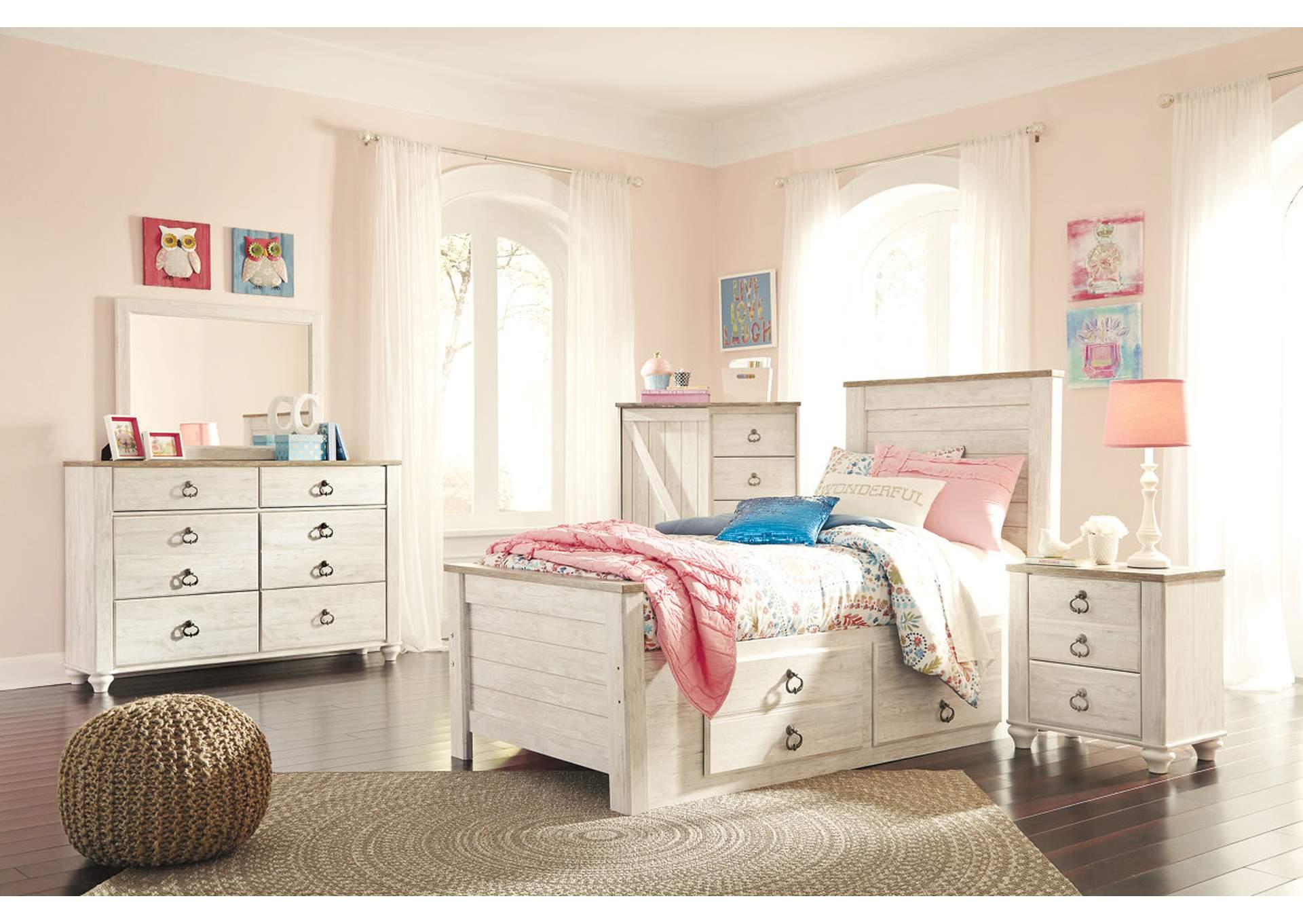 Panel Doble Willowton cama c/ vestidor & espejo