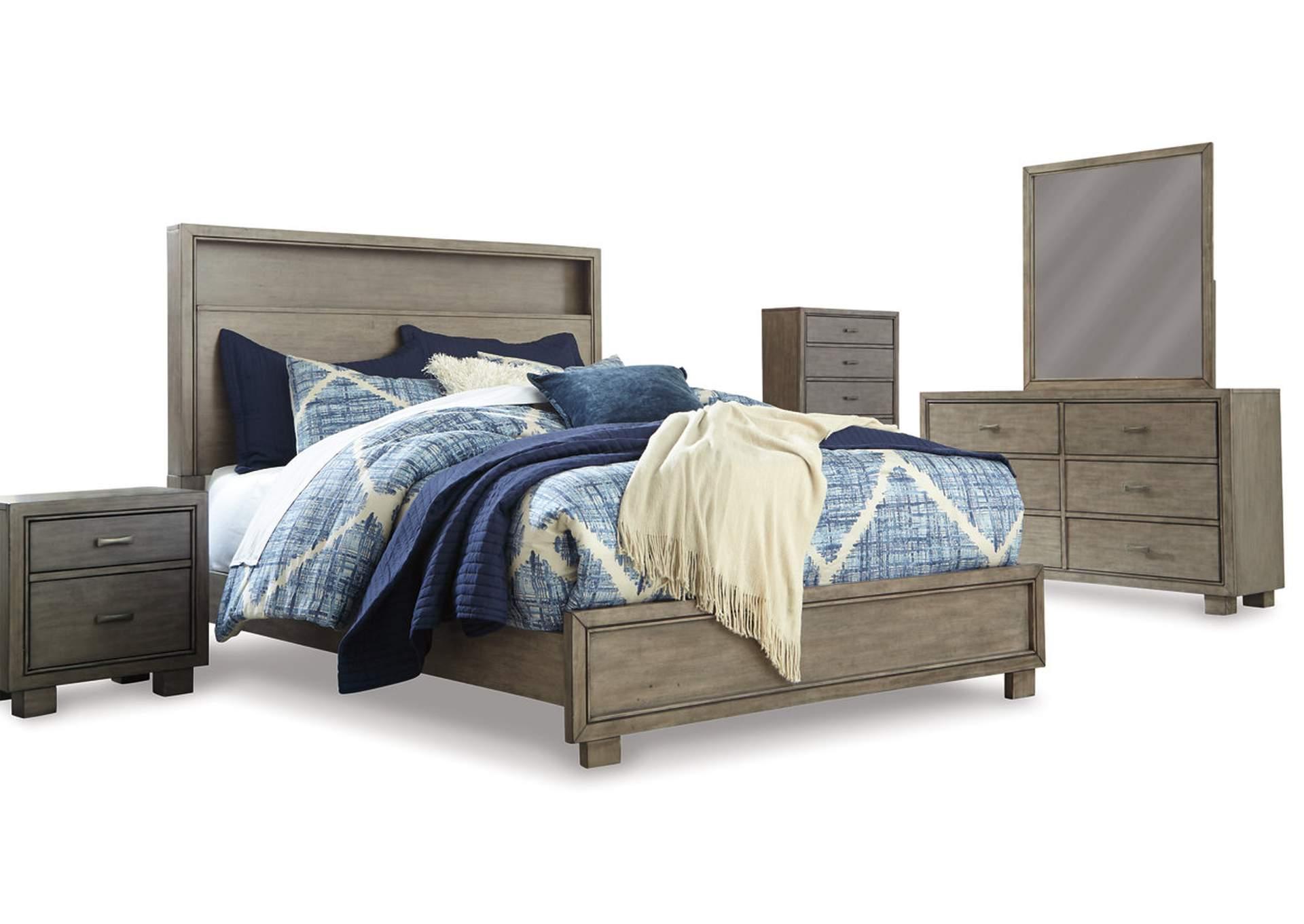 Arnett Queen Panel Bed w/Dresser and Mirror