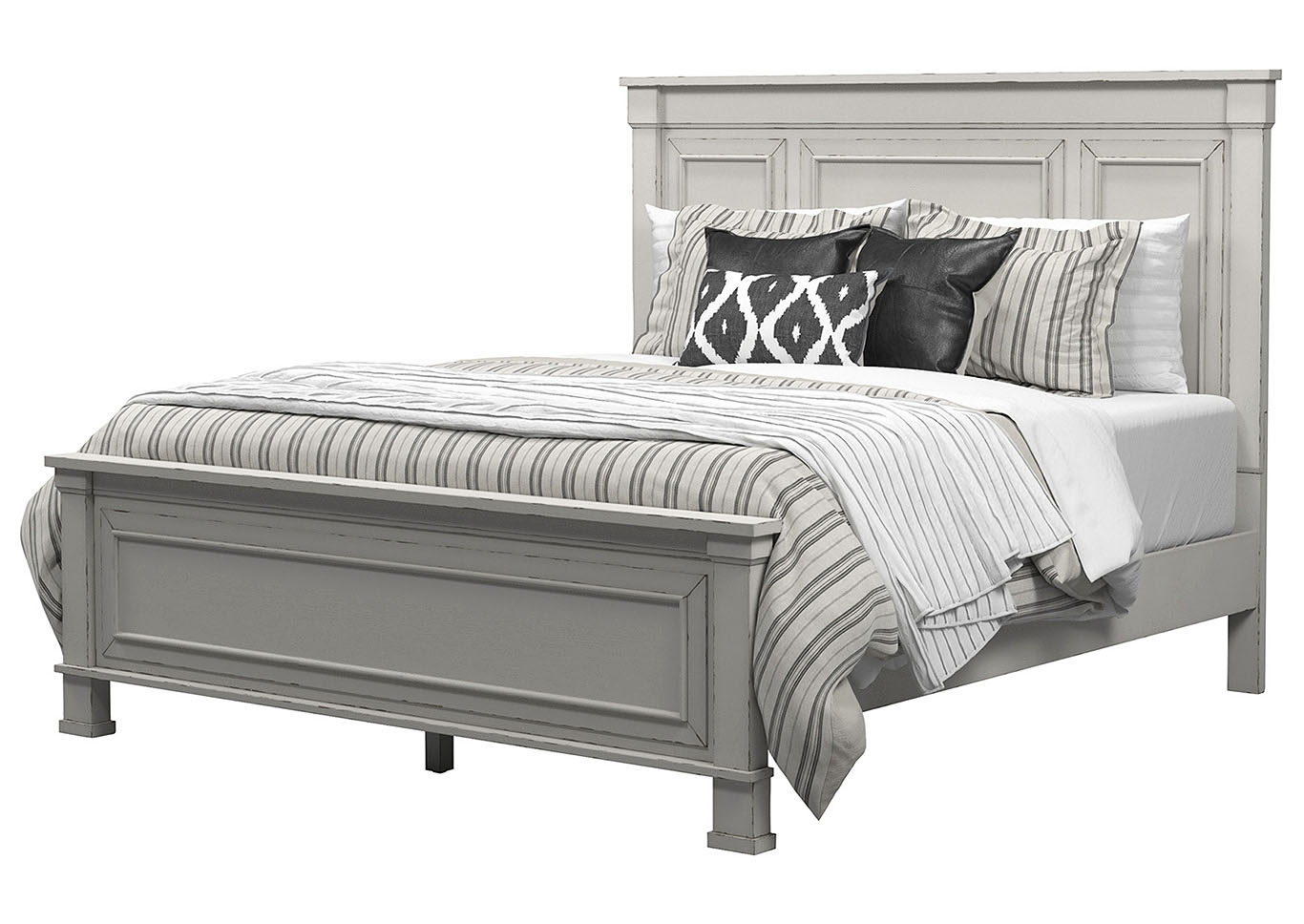 Jennily California King Panel Bed Frame