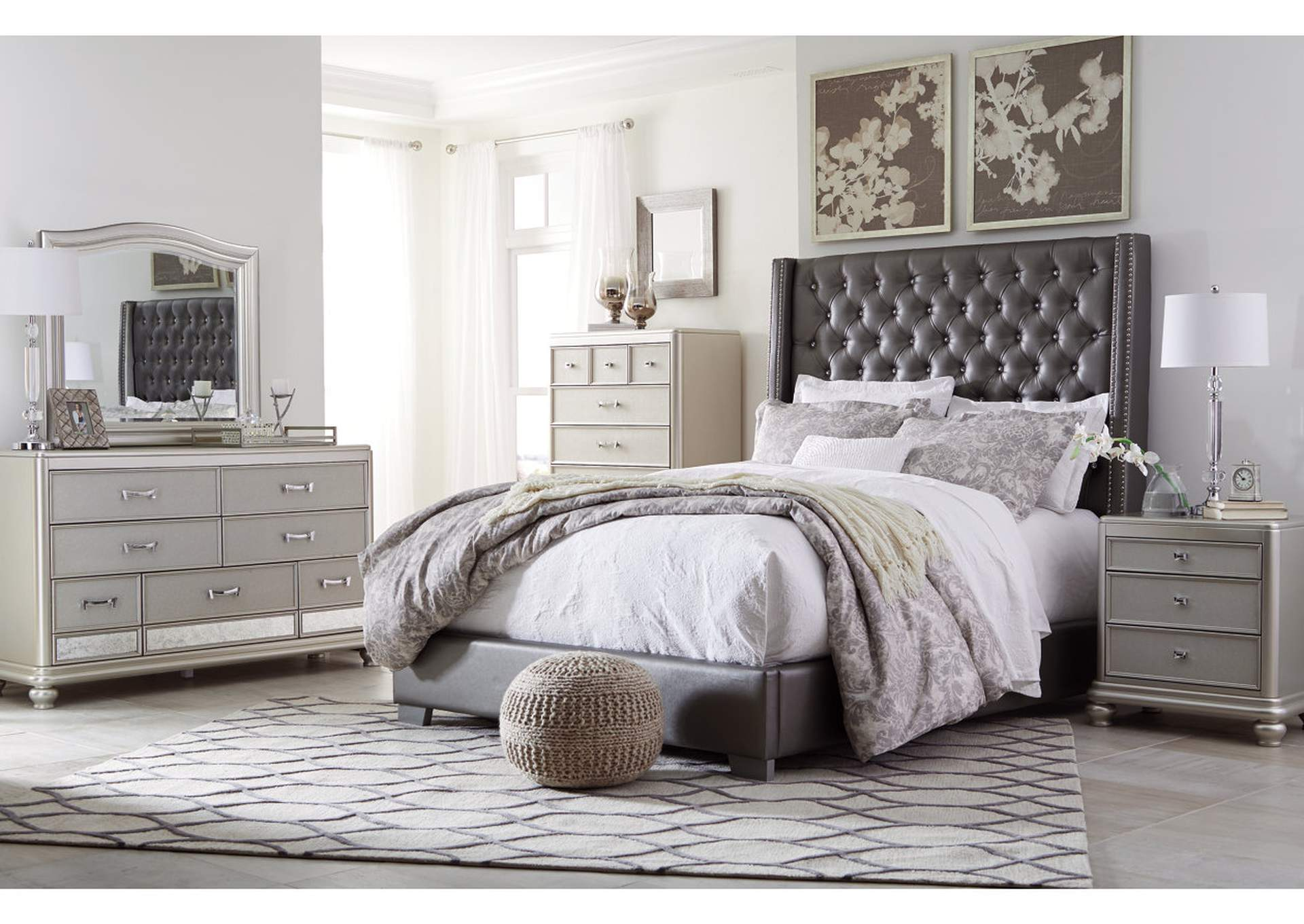 Coralayne King Bed w/Dresser and Mirror
