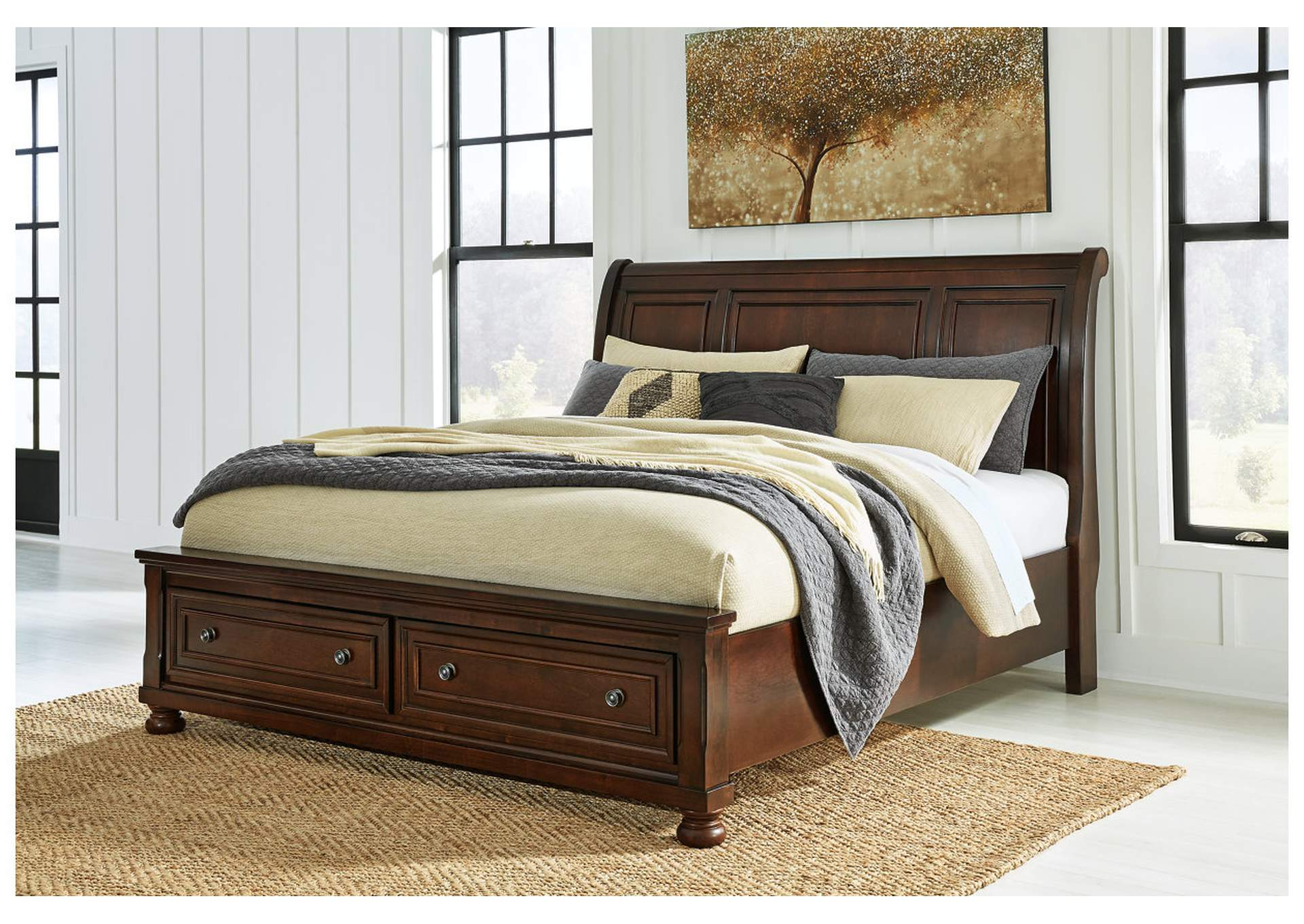 Porter Queen Sleigh Storage Bed frame