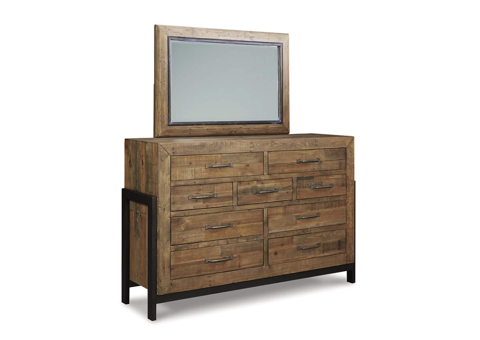 Espejo de dormitorio Sommerford color marrón
