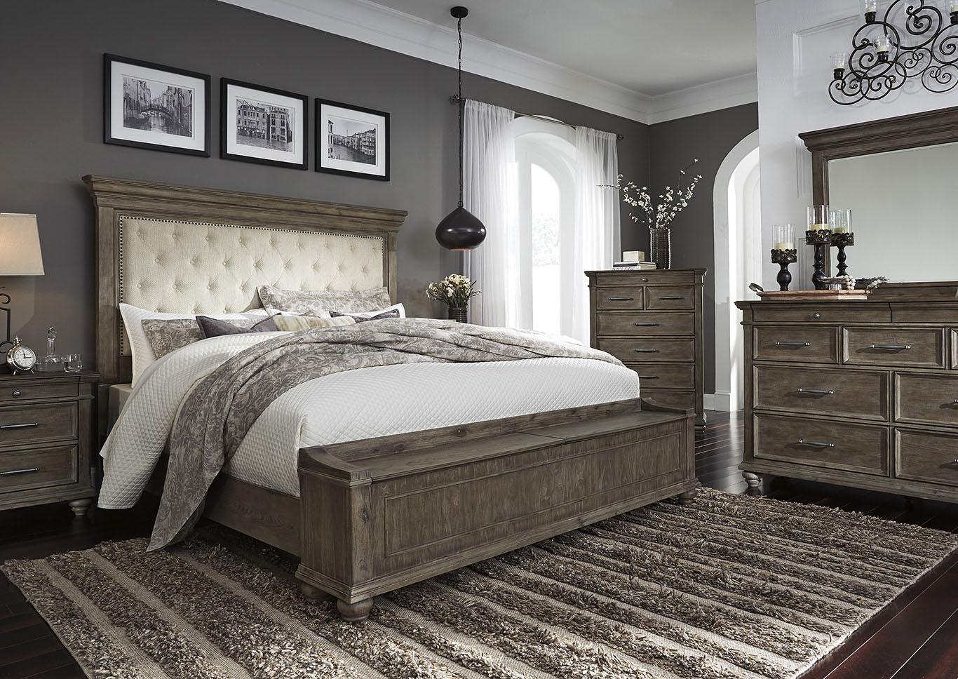 Johnelle King Storage Bed w/Dresser and Mirror