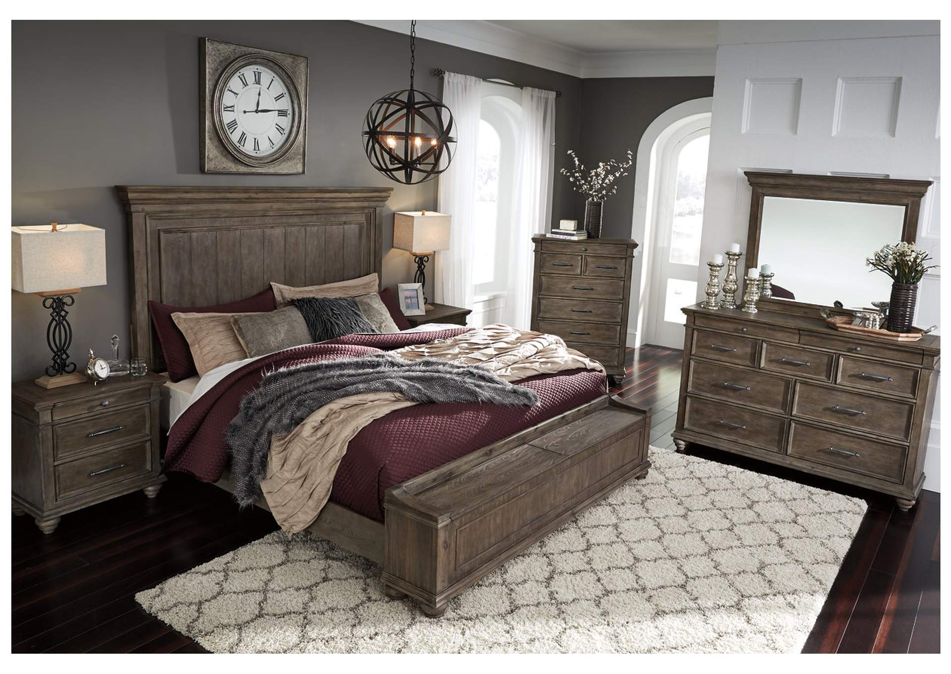 Picture of: Johnelle Queen Storage Bed W Dresser And Mirror Ashley Furniture Homestore Independently Owned And Operated By Mcphails Furniture