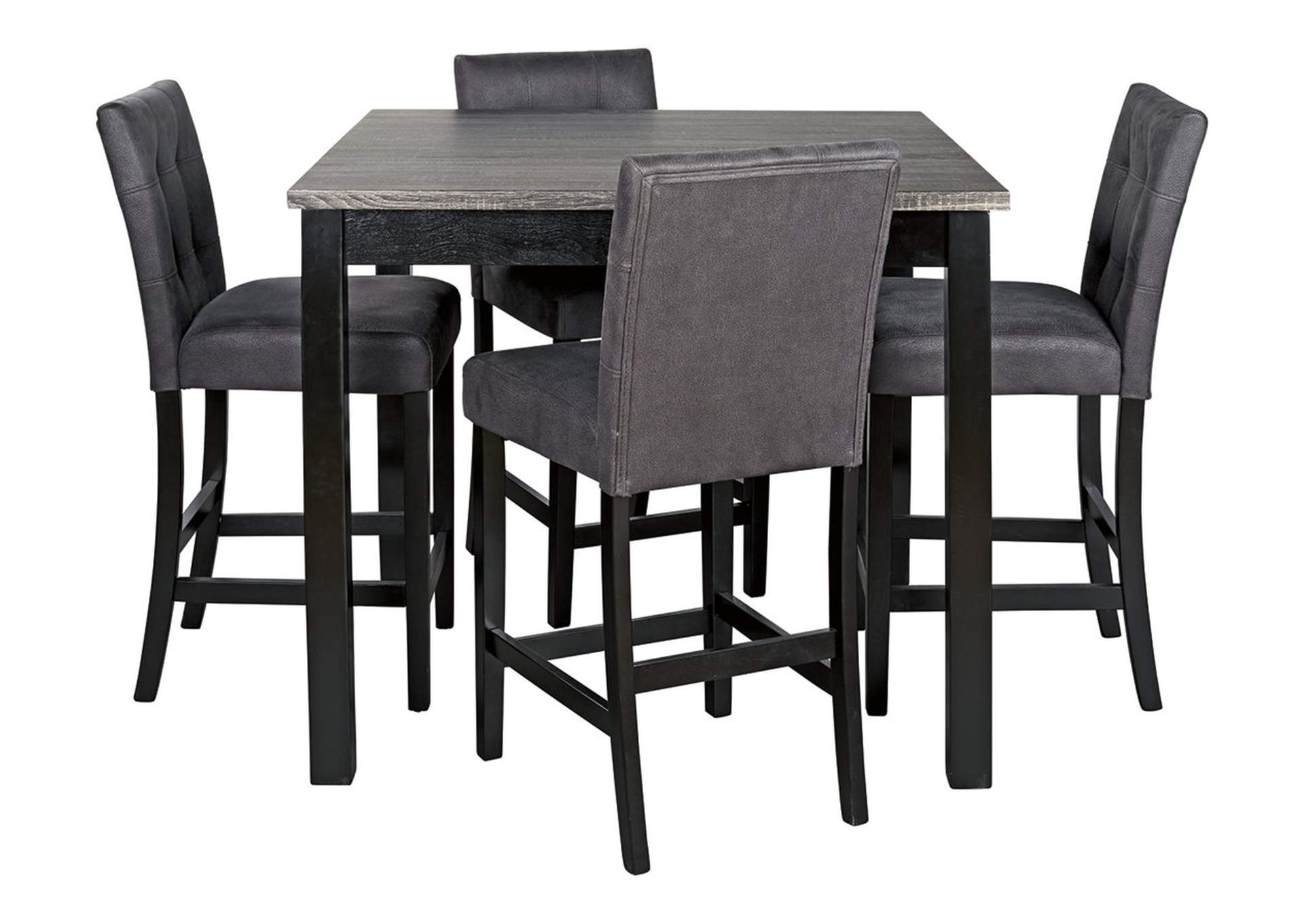 Garvine Counter Height Dining Room Table and Bar Stools (Set of 5)