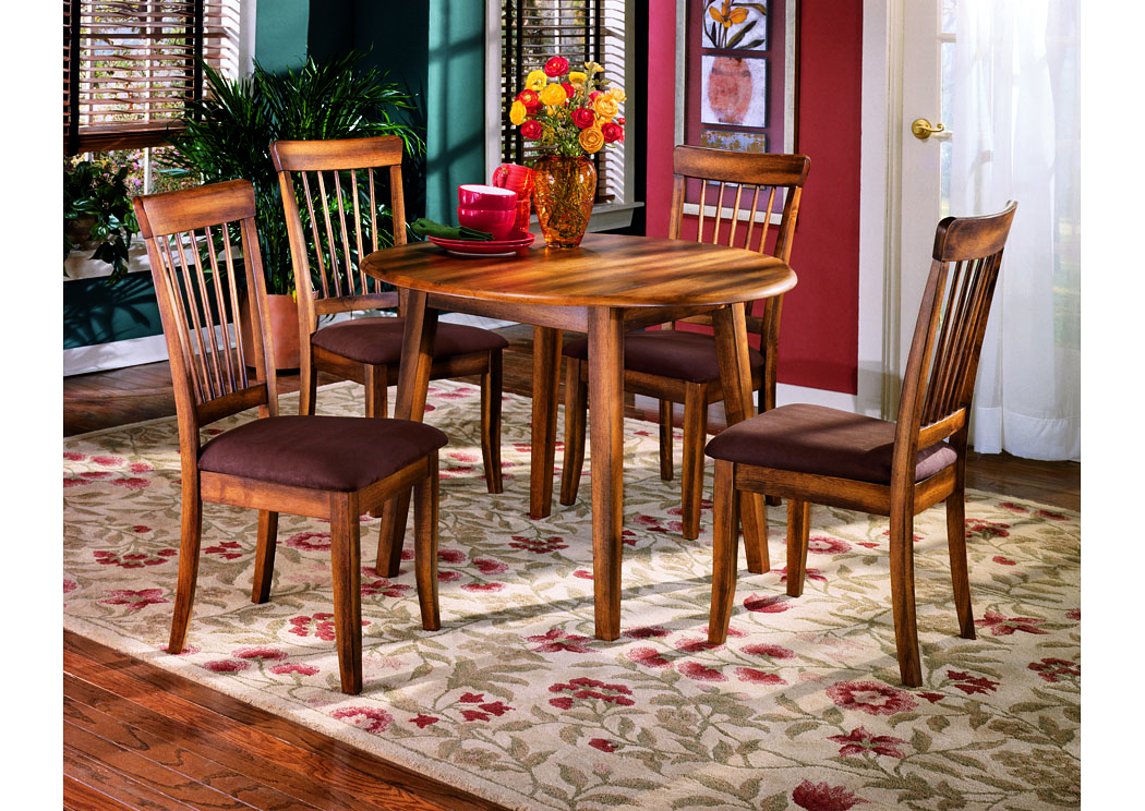 Berringer Round Drop-Leaf Table w/4 Chairs