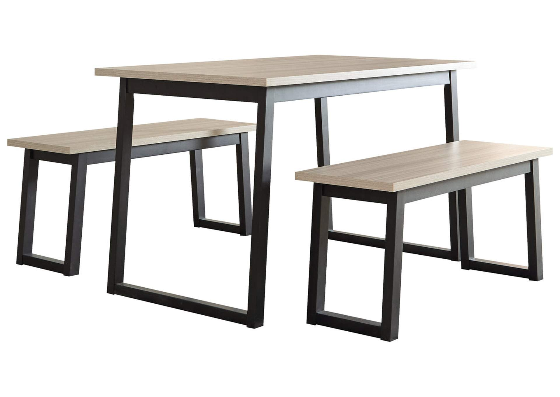 Waylowe Dining Room Table And Benches Set Of 3 Ashley Furniture Homestore Independently Owned And Operated By Eagle Prop