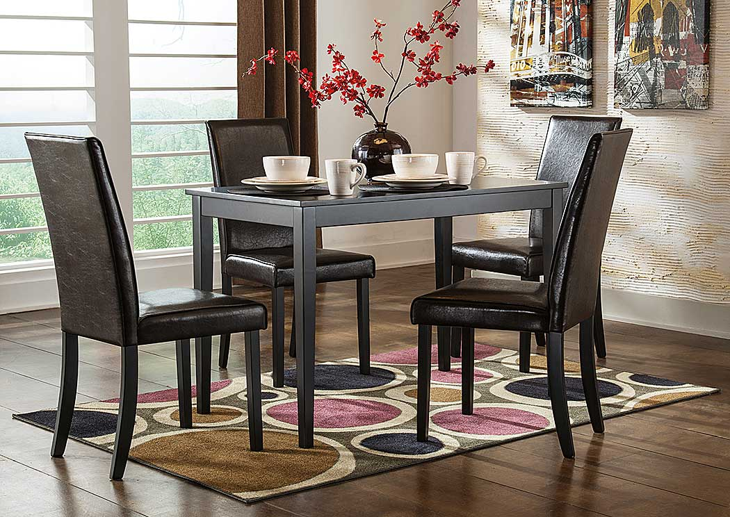 Kimonte Rectangular Dining Table w/4 Chairs