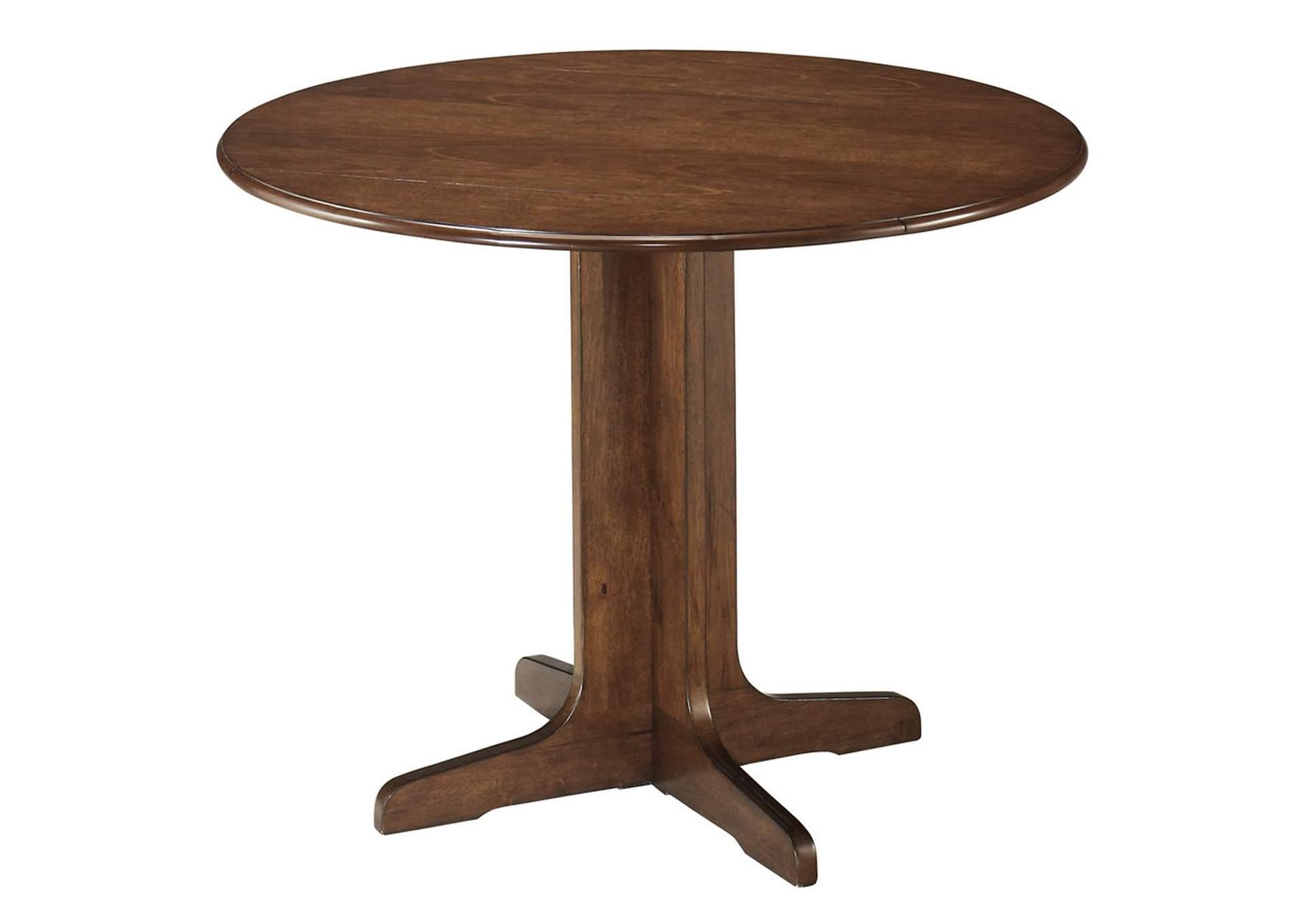 Stuman Round ドロップ リーフ/垂れ板付き テーブル