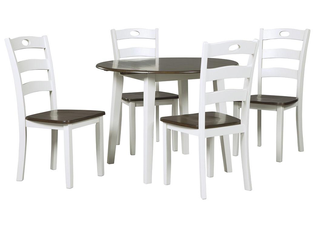 Picture of: Woodanville Round Drop Leaf Dining Table W 4 Chairs 에쉴리가구 홈스토어 한국 공식 홈페이지
