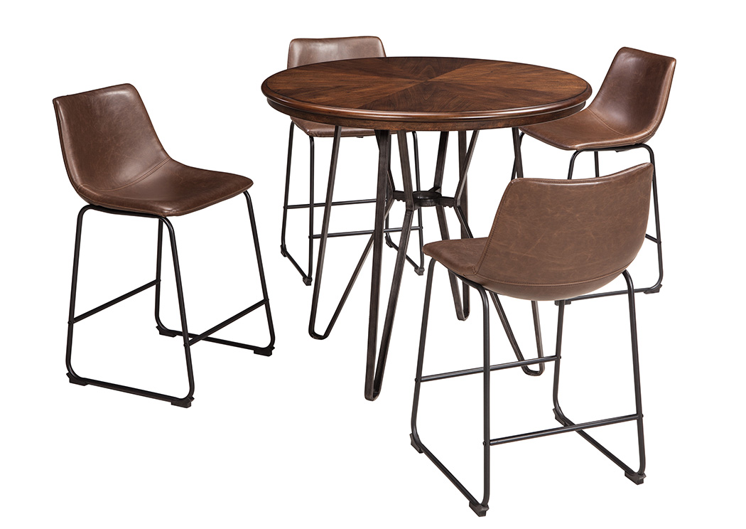Centiar Counter Height Table w/4 Bar Stools   PEDIDO ESPECIAL