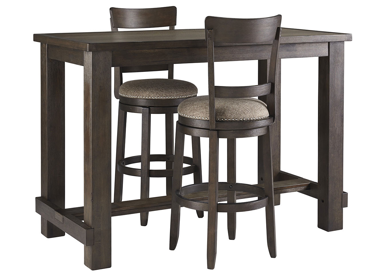 Drewing Bar Table w/8 Barstools Ashley Furniture Homestore