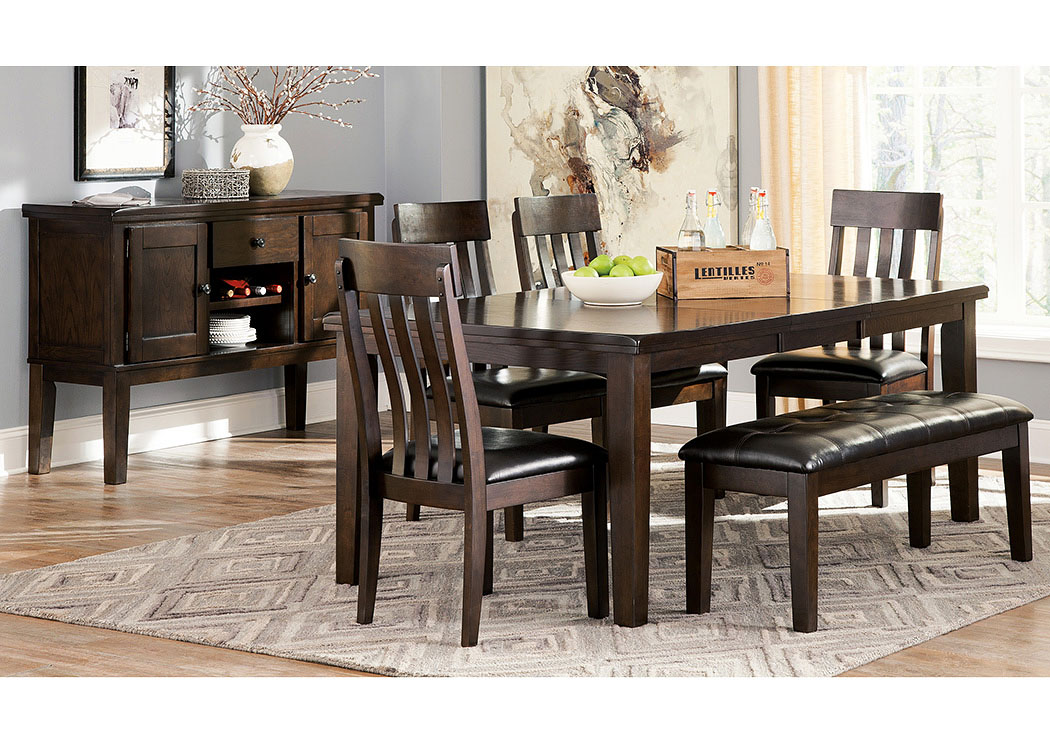 Haddigan Rectangular Dining Table W 4, Dining Room Table With 4 Chairs And A Bench
