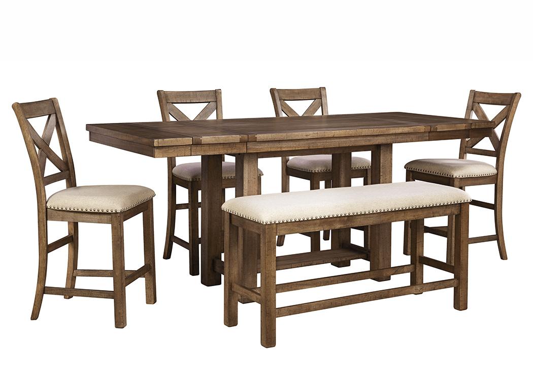 Moriville Counter Height Table w/4 Bar Stools & Bench   PEDIDO ESPECIAL