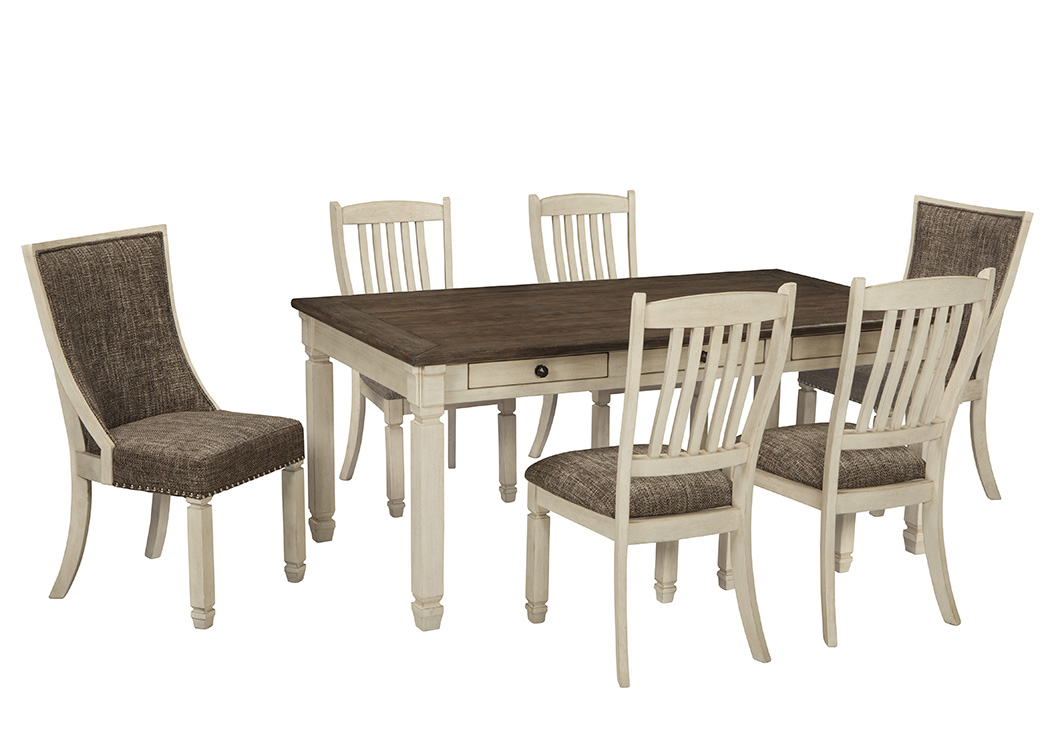 Bolanburg Rectangular Dining Table w/6 Chairs