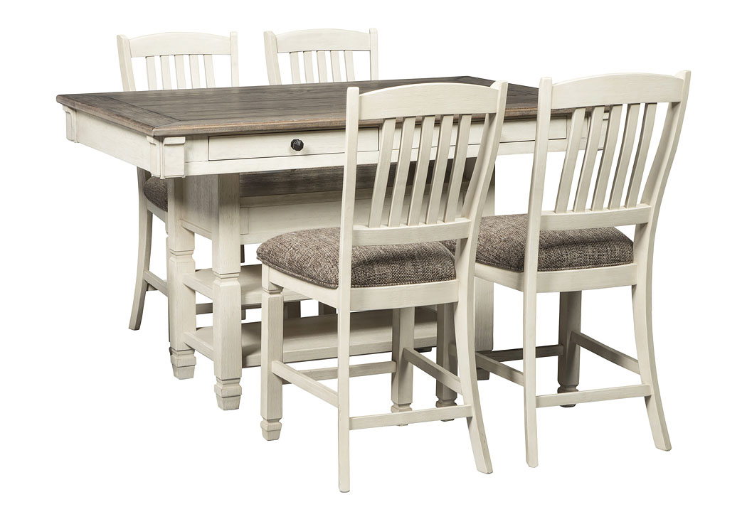 Bolanburg Counter Height Dining Table and 4 Barstools Set