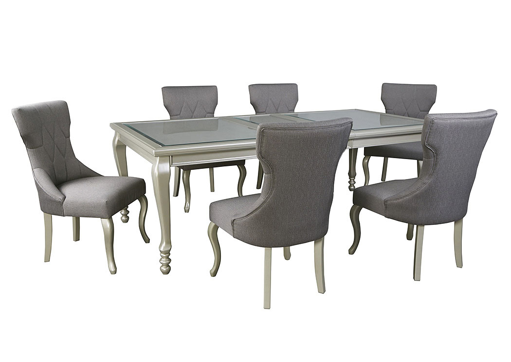 Coralayne Rectangular Dining Table W 6 Chairs Ashley Furniture Homestore Independently Owned And Operated By Hamad M Al Rugaib Sons Trading Co