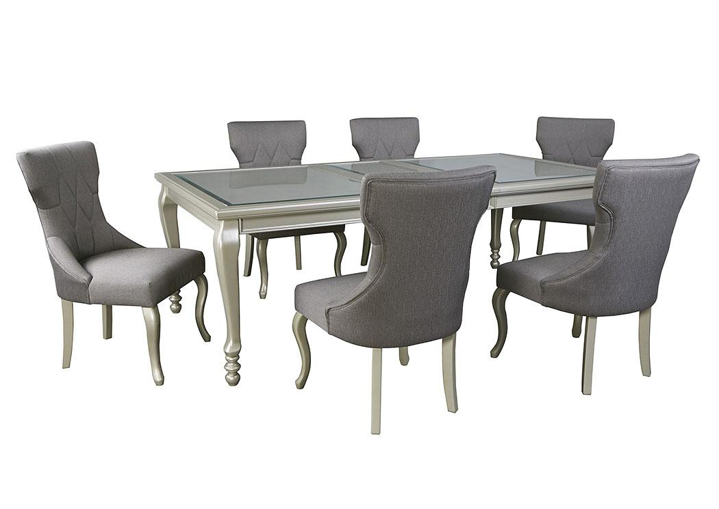 Coralayne Rectangular Dining Table w/6 Chairs