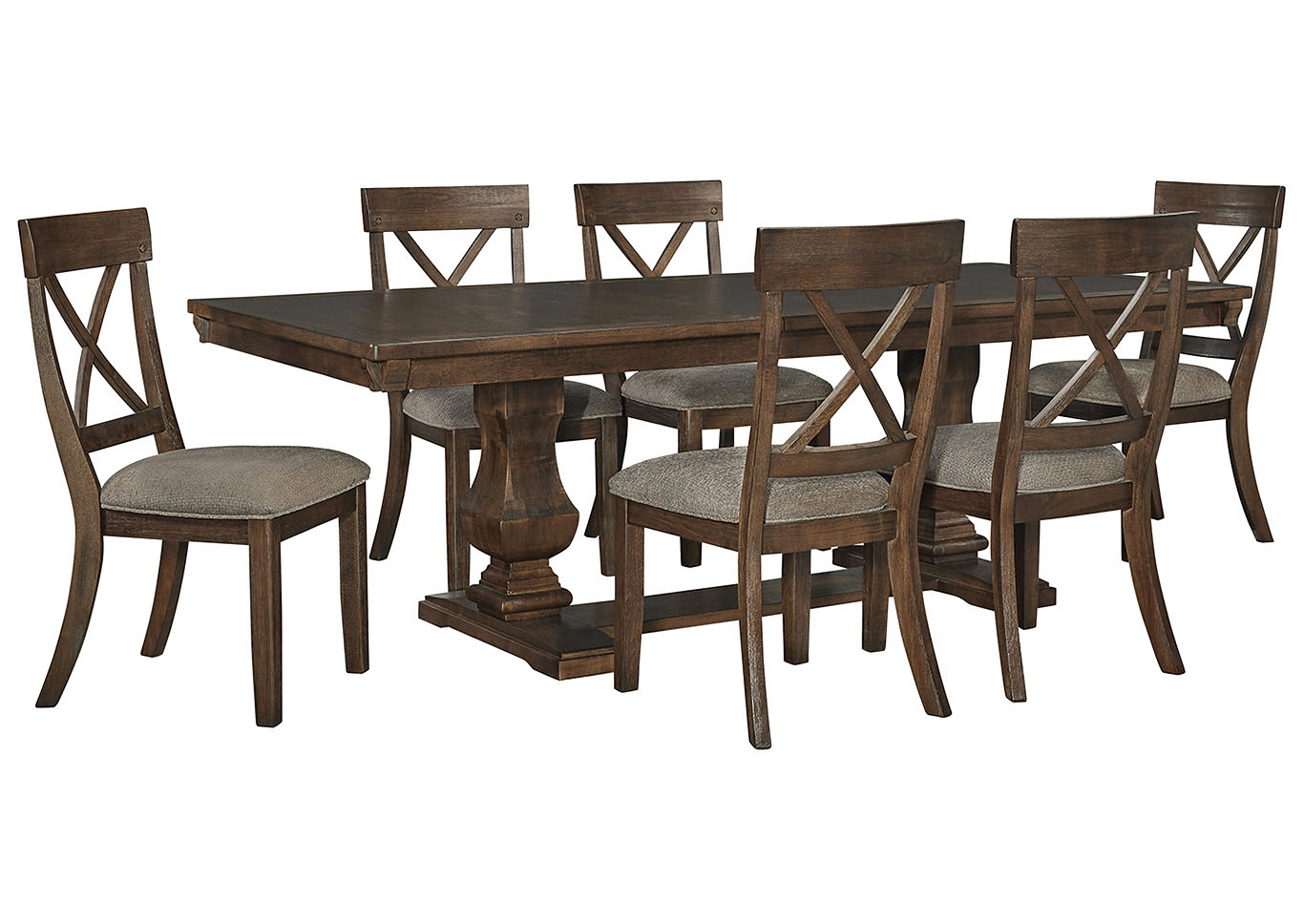 Windville Dining Table And 6 Chairs Ashley Furniture Homestore Independently Owned And Operated By Dash Square