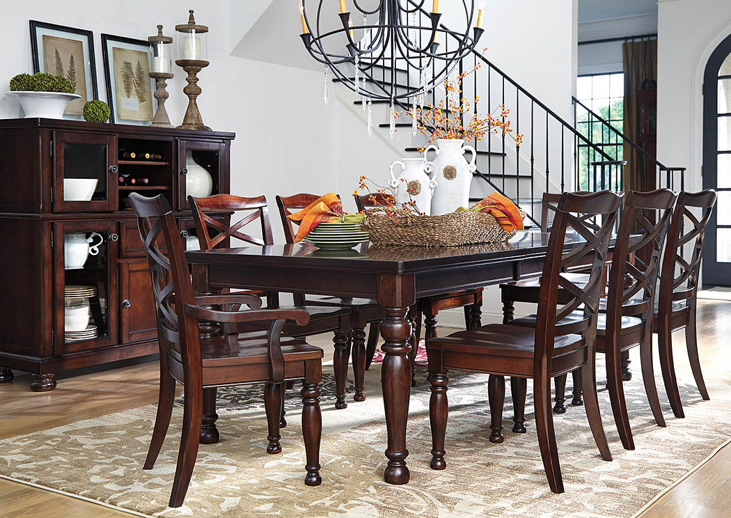 Porter Rectangular Dining Table w/8 Chairs