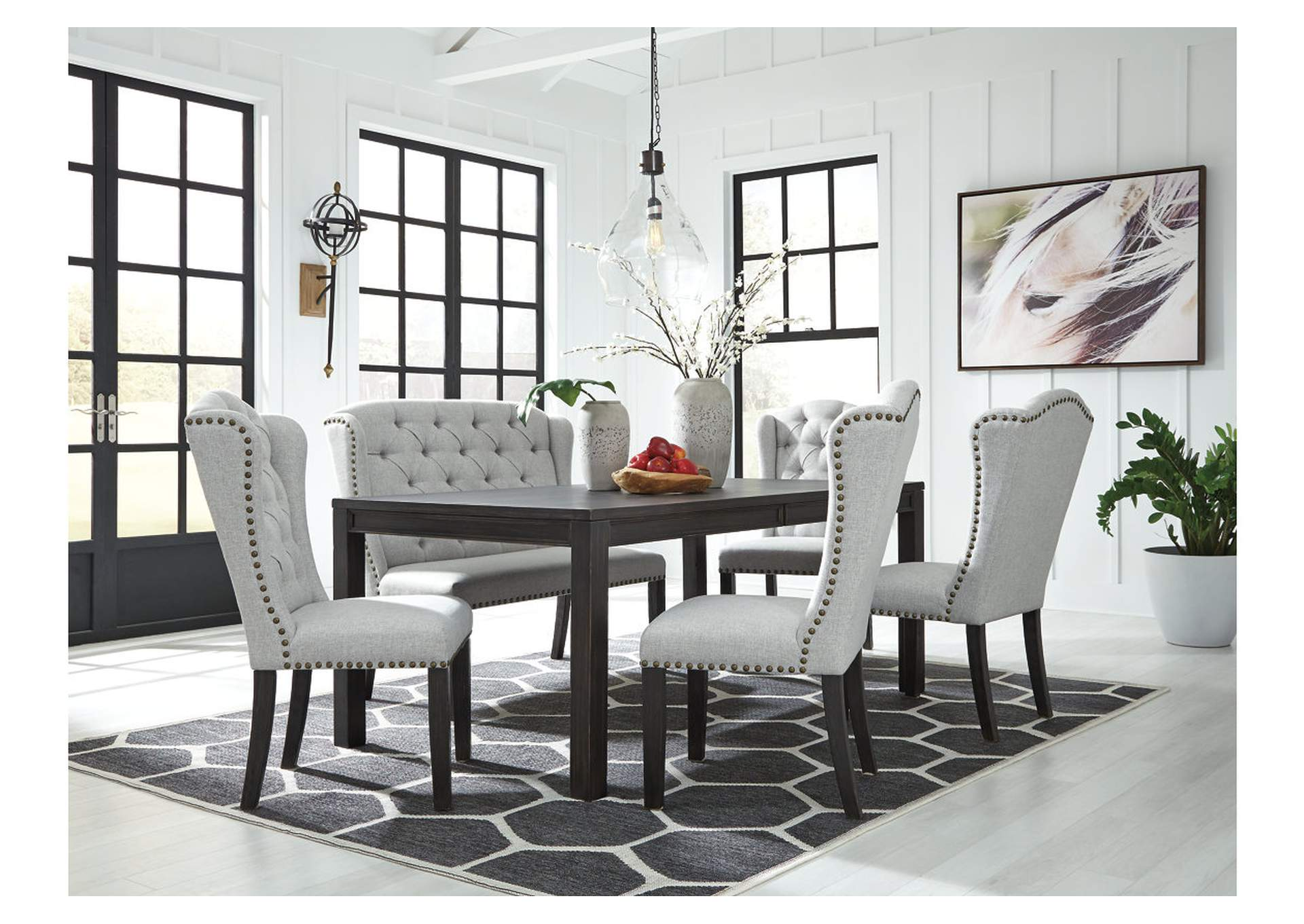 Jeanette 6 Piece Dining Room Set Ashley, 6 Piece Dining Room Set