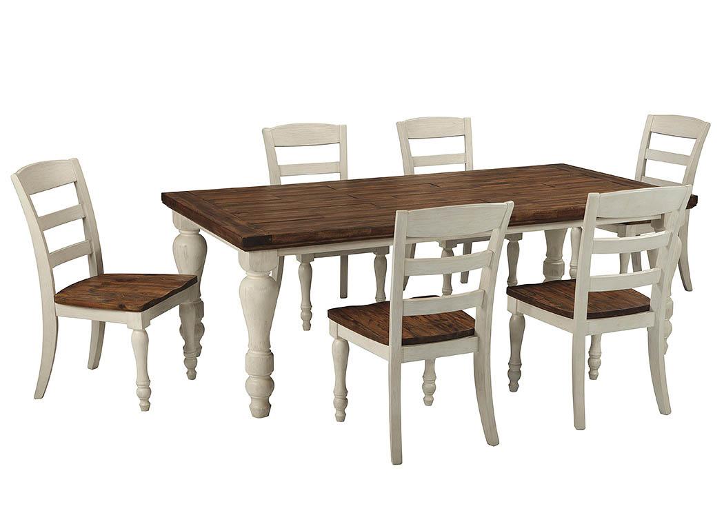 Marsilona Rectangular Dining Table w/6 Chairs