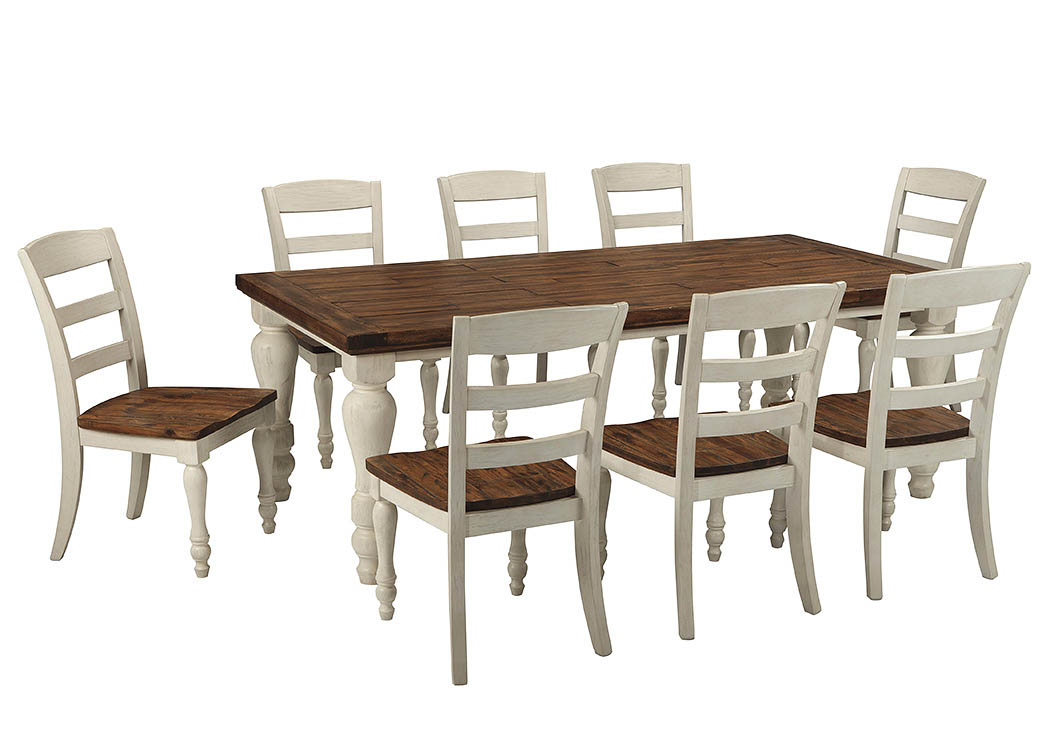 Marsilona Rectangular Dining Table W 8 Chairs Ashley Furniture Homestore Independently Owned And Operated By Fairdeal Furniture