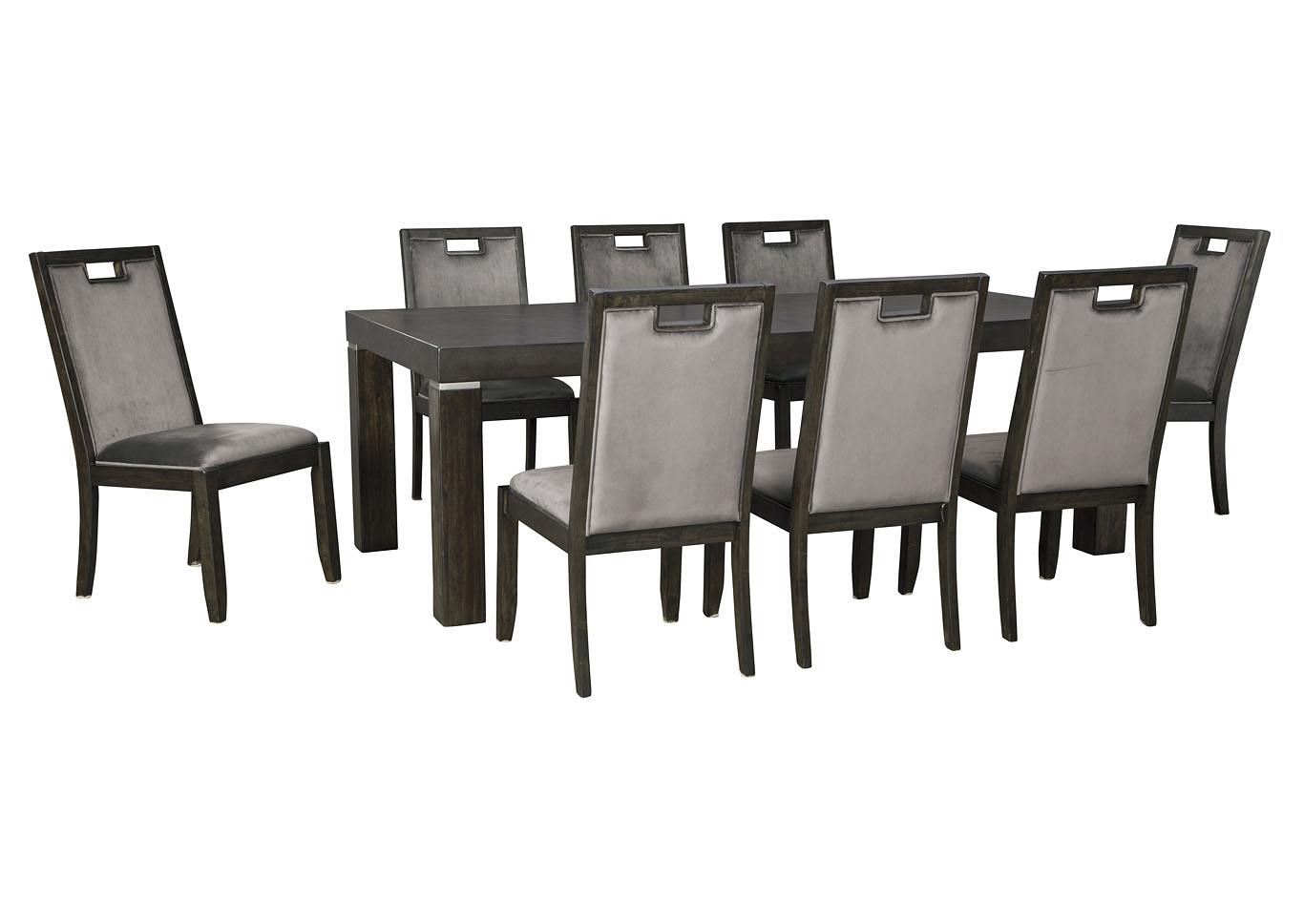 Mesa de comedor Hyndell con extensión y 8 sillas