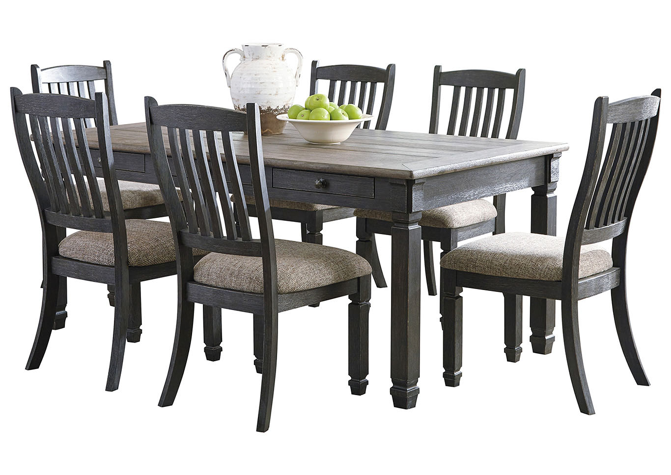 Tyler Creek Dining Table and 6 Chairs