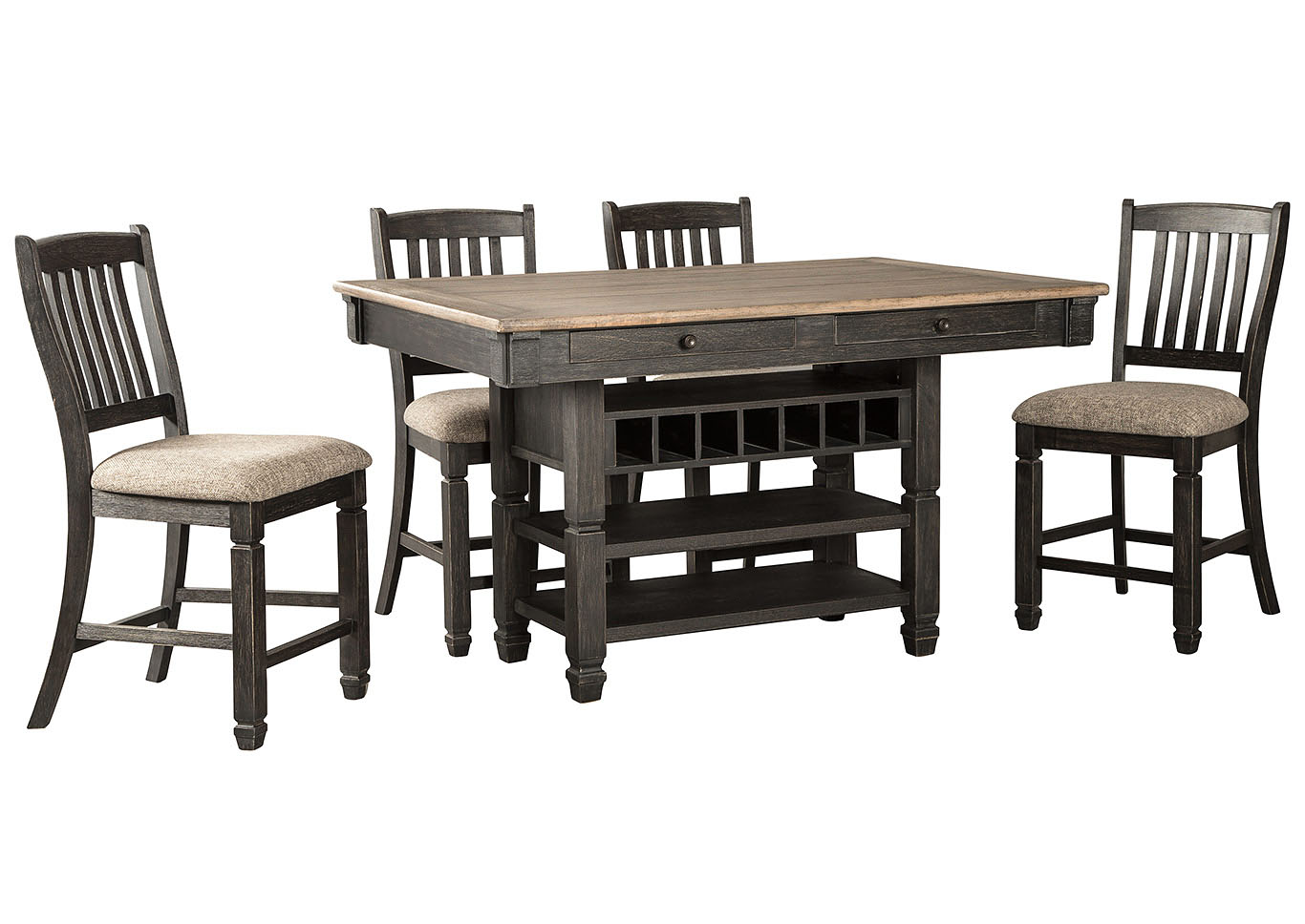 Tyler Creek Counter Height Dining Table and 4 Counter Stools
