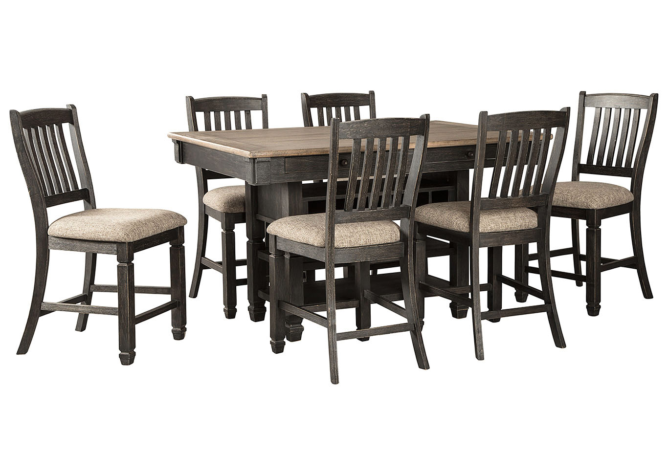 Tyler Creek Counter Height Dining Table and 6 Counter Stools