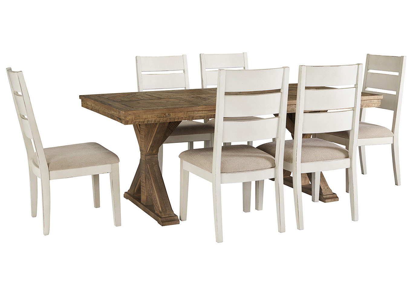 Grindleburg Rectangular Dining Table w/6 Side Chairs