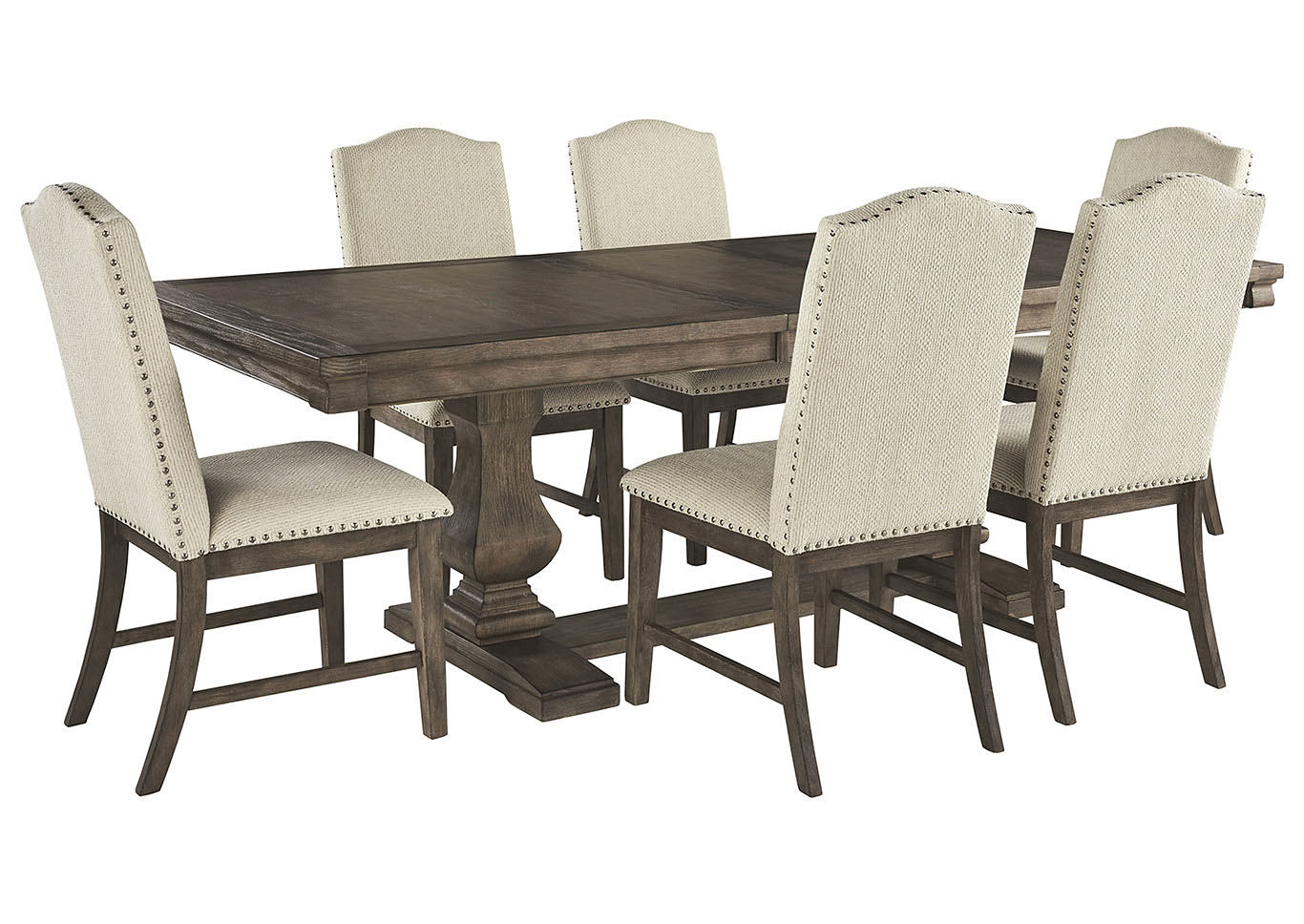 Johnelle Dining Table w/6 Side Chairs