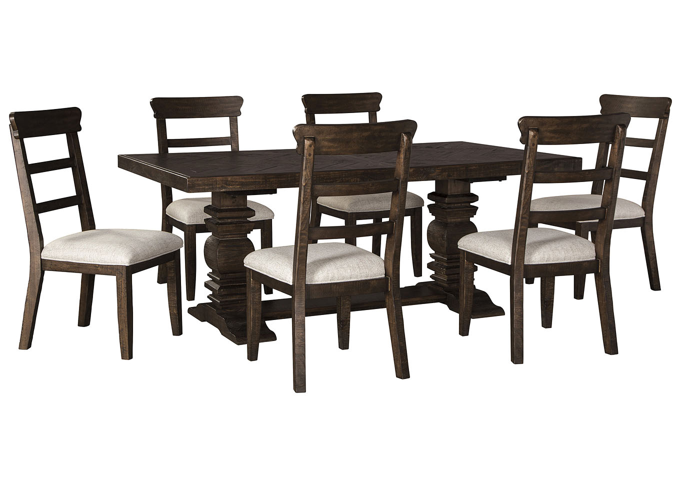 Hillcott Dining Table w/6 Side Chair