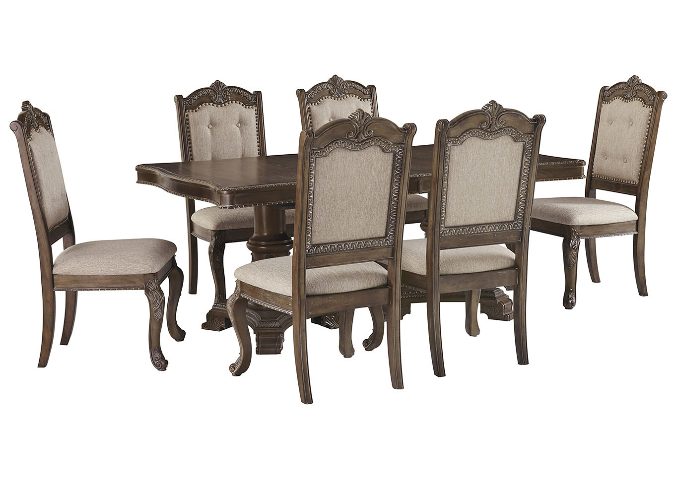 Charmond Dining Table w/6 Side Chairs