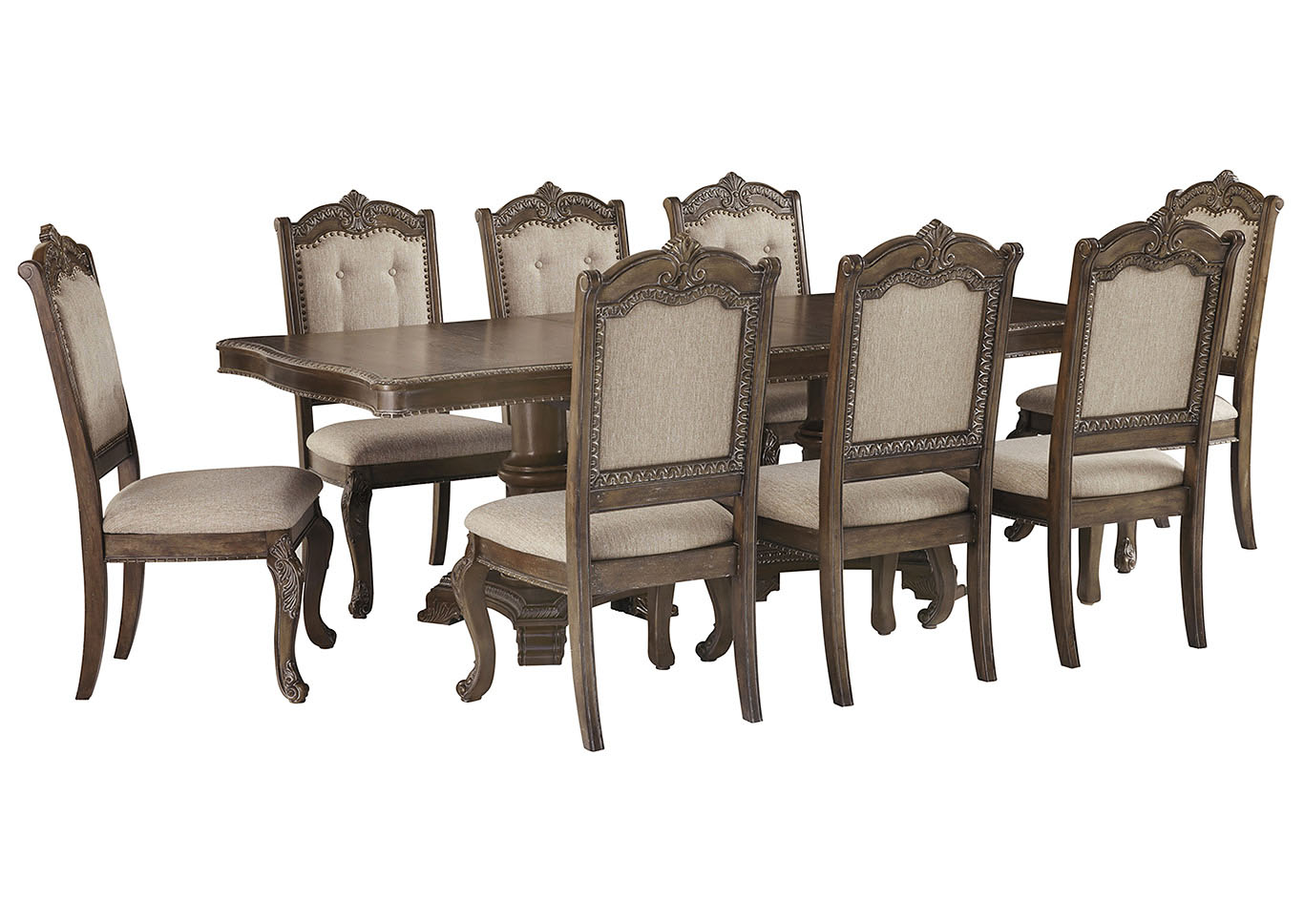 Charmond Dining Table w/8 Side Chairs