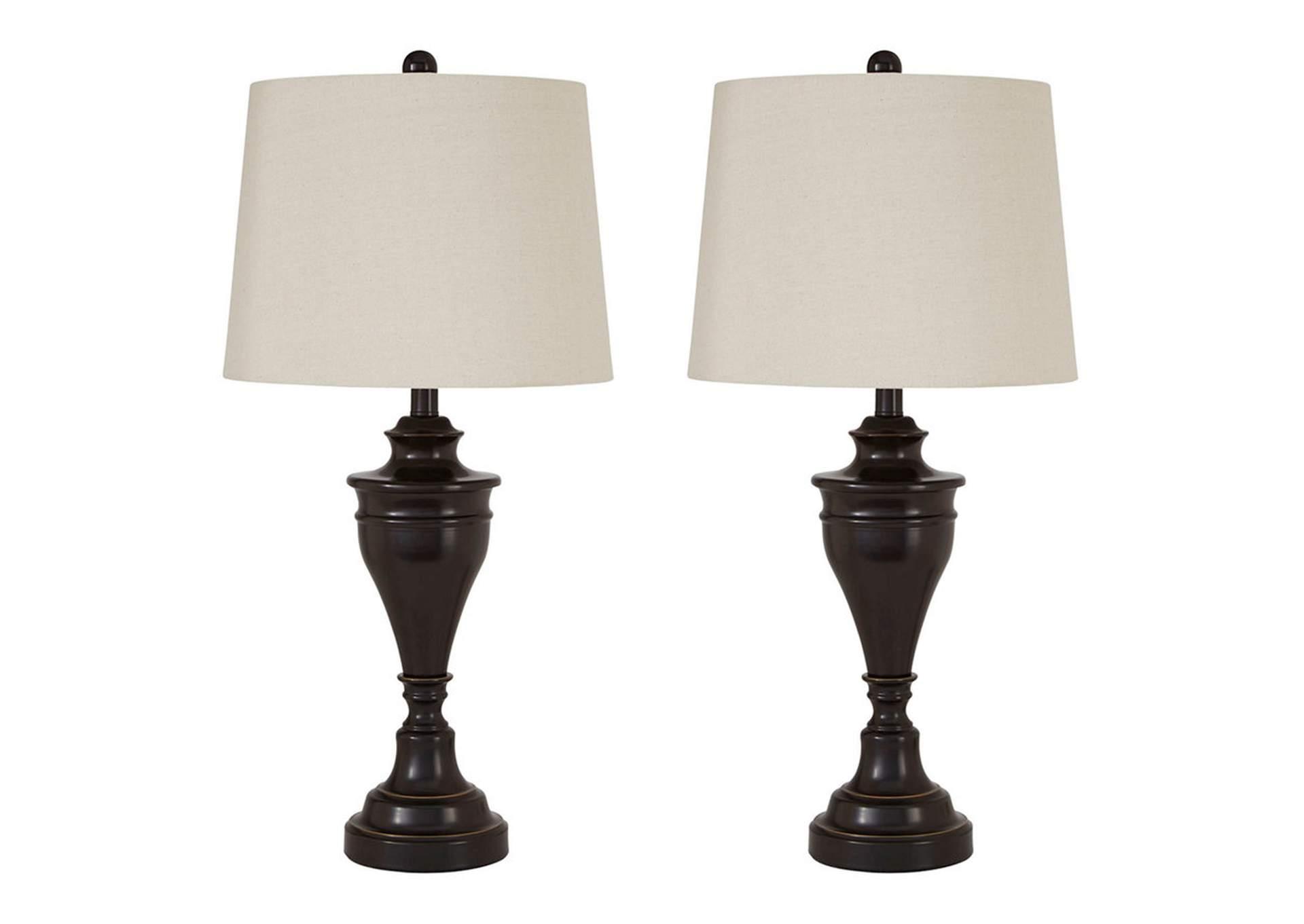 Lámpara de mesa Darlita, metálica con acabado de bronce   PEDIDO ESPECIAL